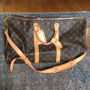 Louis Vuitton Keepall 50 - with cross body strap